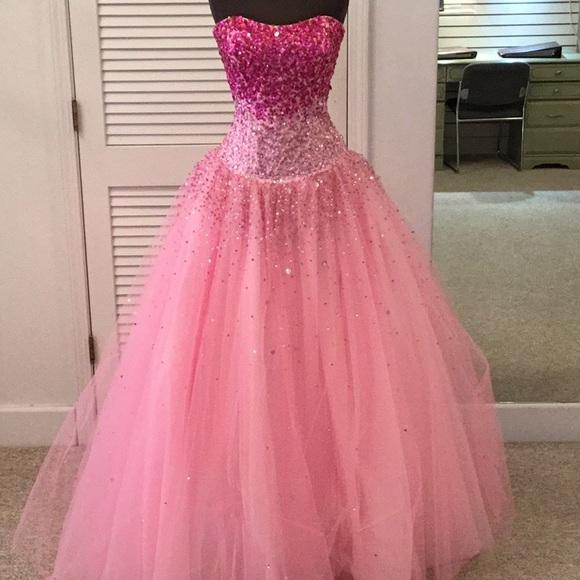50% off Mori Lee Dresses Pink Prom Dress | Poshmark